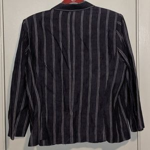 CAbi Jackets & Coats - Cabi jacket 3/4 sleeve pinstripe lightweight denim